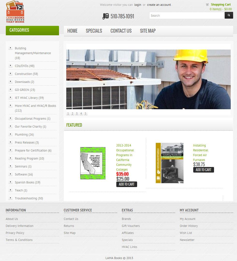 Custom Skin for OpenCart eCommerce Website