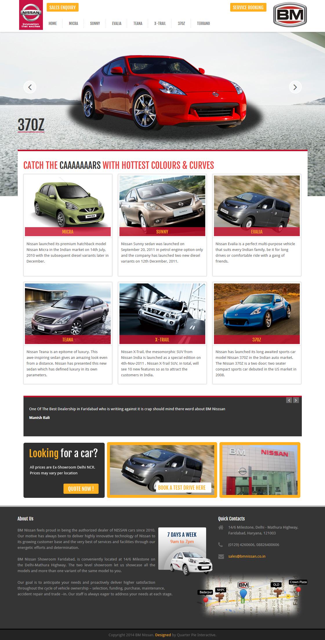Nissan Cars Showroom Website